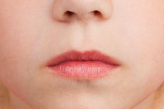 Face with the lips, nose and cheeks Stock Photo