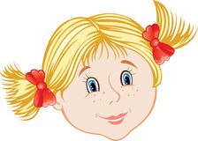 Face of little girl Royalty Free Stock Images