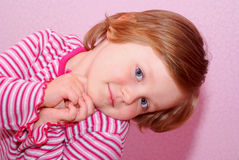 Face little girl. Stock Images