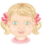 The face of a little girl Stock Photography
