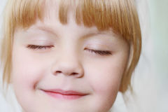 Face of a little girl Stock Photography