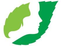Face logo Stock Image