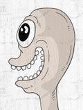 Face louca ilustração royalty free