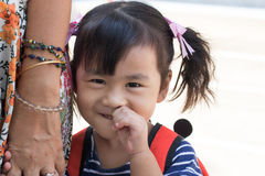 Face of lovely asian children smiling happy emotion Stock Images