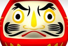 Face Of Lucky Daruma Doll Stock Photo