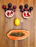 Face made of fruits Royalty Free Stock Images