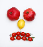 Face made of fruits Royalty Free Stock Photo