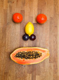 Face made of fruits Stock Images