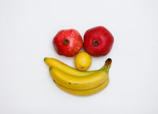 Face made of fruits Stock Image