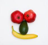 Face made of fruits Stock Photo