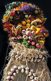 Face made of fruits and vegetables Stock Photo
