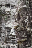Face made of stone in angkor in cambodia Stock Photography