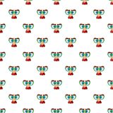 Face of magician pattern, cartoon style Royalty Free Stock Photo