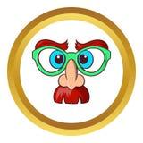 Face of magician vector icon, cartoon style Stock Photo