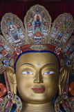 Face of maitreya buddha in thiksey monastery Royalty Free Stock Photography