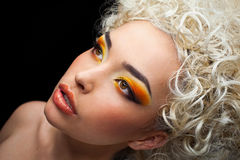 Face make-up Royalty Free Stock Photography