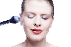 Face and make up brush Royalty Free Stock Images