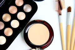 Face Make up set on white background. The Face Make up set on white background royalty free stock photography