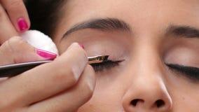 Face Makeup Black Eyeliner stock video