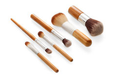 Face makeup brushes Royalty Free Stock Image