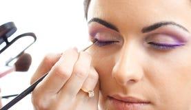 Face makeup eyes correction isolated Stock Photos