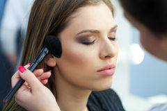 Face Makeup in studio Stock Photography