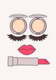Face makeup Stock Image