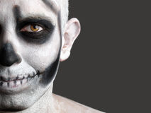 Face man painted with a skull 2 Stock Images