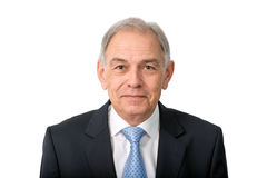 Face of a man in suit stock image