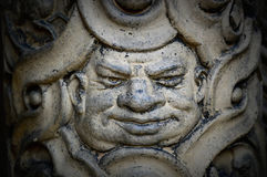 Face of a Man. Symbol carved into one of the pillars at the Yerkes Observatory, part of the University of Chicago, located in Williams Bay, Wisconsin in royalty free stock image