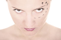 Face marking Stock Image