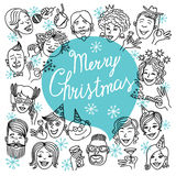 Face marry cristmas Royalty Free Stock Image