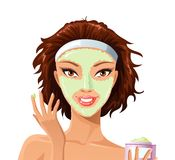 Face mask Stock Illustration