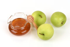 Face mask with apples and honey for whitening skin. Royalty Free Stock Images