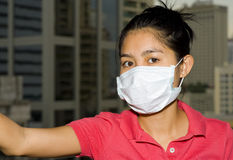 Face mask in bangkok Royalty Free Stock Photography