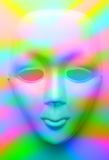 Face mask in colourfull lights Royalty Free Stock Images