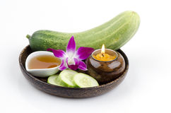 Face mask Cucumbers and honey Royalty Free Stock Image