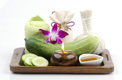Face mask Cucumbers and honey Royalty Free Stock Images