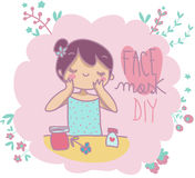 Face mask do it yourself Royalty Free Stock Images