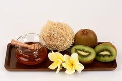 Face mask with Kiwi fruit and honey. Stock Photography