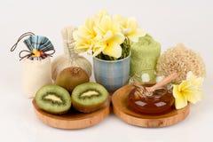 Face mask with Kiwi fruit and honey. Stock Images
