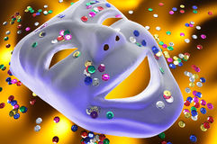 Face Mask and Sequins Stock Image