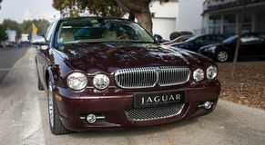 Face mask  silver Jaguar XJ Stock Photography