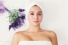 Face mask, spa beauty treatment, skincare Stock Photography