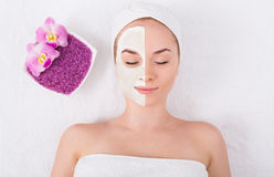 Face mask, spa beauty treatment, skincare Stock Photos