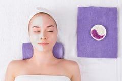 Face mask, spa beauty treatment, skincare Stock Image