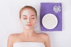 Face mask, spa beauty treatment, skincare Royalty Free Stock Photo