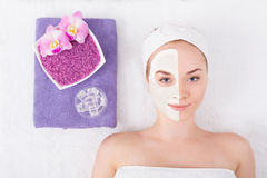 Face mask, spa beauty treatment, skincare Royalty Free Stock Photography