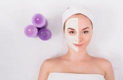 Face mask, spa beauty treatment, skincare Royalty Free Stock Image