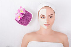 Face mask, spa beauty treatment, skincare Stock Photography